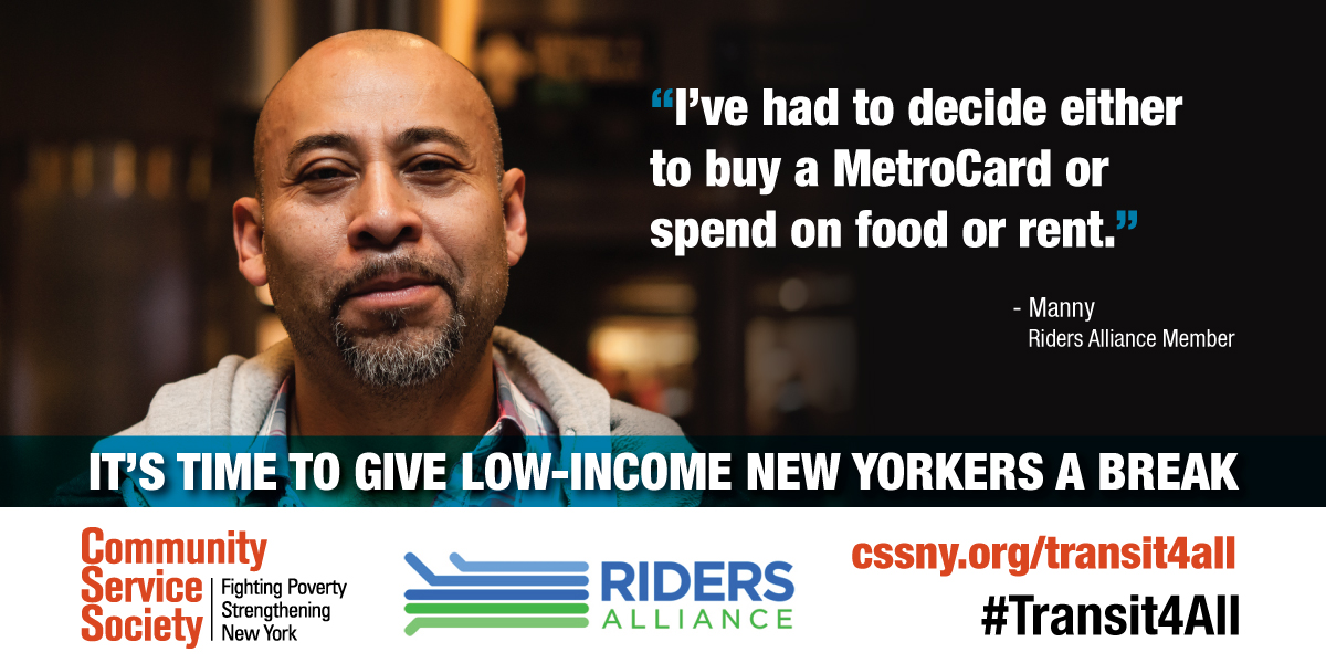 It's time to give low-income New Yorkers a break.