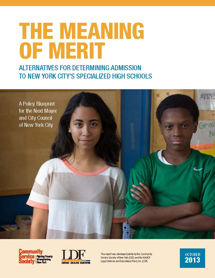 The meaning of merit alternatives to determining admission to nycs publications malvernweather Choice Image