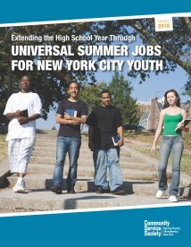 Extending the High School Year Through Universal Summer Jobs For ...
