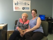 88 year old Marion Contrera (left), with Grace Mancuso. Both are volunteers with CSS/RSVP.