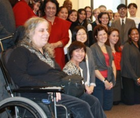 Paula Wolff of The Center for Independence of the Disabled (CIDNY) with CHA staff & partners